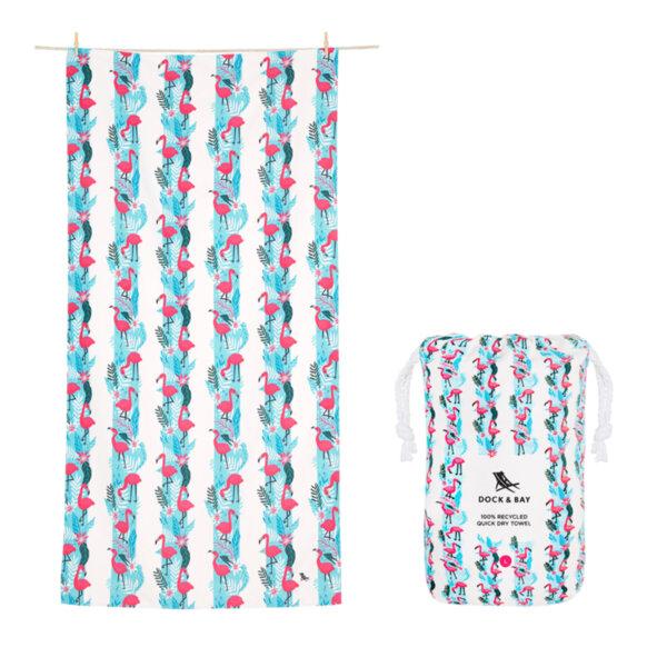 Бързосъхнеща кърпа за плаж Фламинго