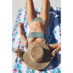 Бързосъхнеща плажна кърпа Фламинго