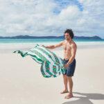 Бързосъхнеща плажна кърпа Тигър