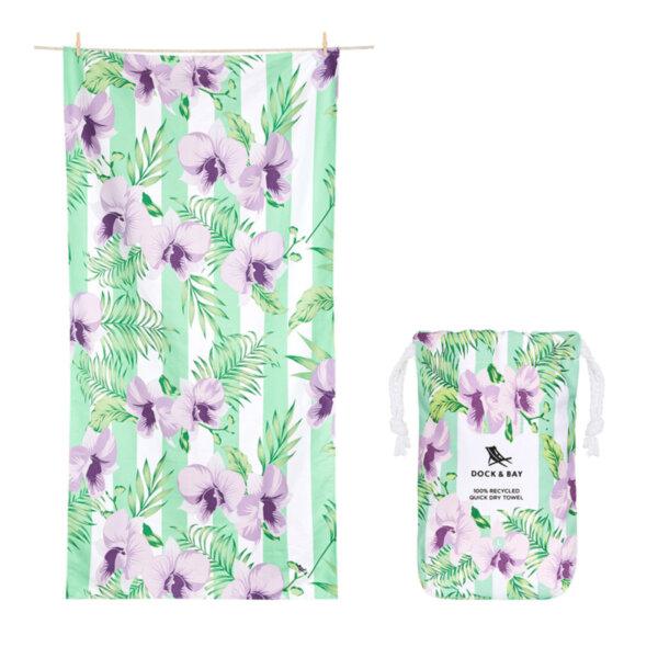 Бързосъхнеща кърпа за плаж Орхидея