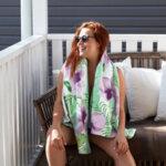 Бързосъхнеща плажна кърпа Бананови листа-Copy