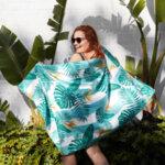Бързосъхнеща плажна кърпа Орхидея-Copy