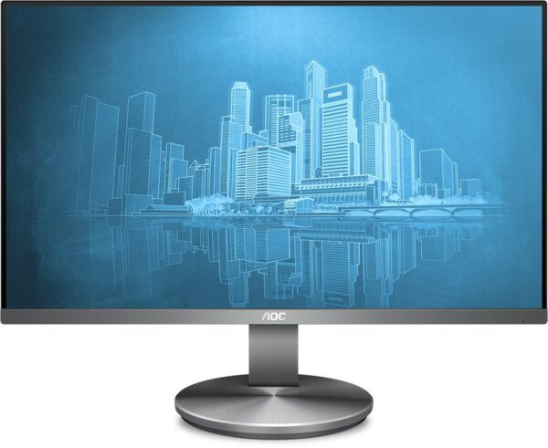 "AOC I2490VXQ, 23.8"" Wide IPS LED, 4 ms, 1000:1, 100M:1 DCR, 250 cd/m2, FHD 1920x1080@60Hz, FlickerFree, Low Blue Light, D-Sub, HDMI, DP, Headphone Out, Speakers, Dark grey"