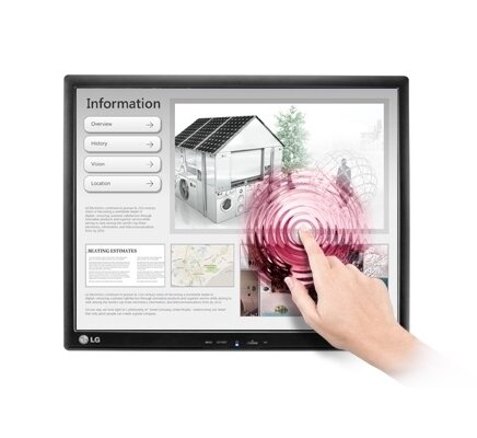 "LG 19MB15T, 18.9"" 5:4 LED Touch Screen Anti-Glare, IPS Panel, 14ms, 5000000:1 DFC, 250cd, 1280x1024, USB"