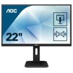 "AOC 22P1, 21.5"" Wide MVA LED, 8 ms, 3000:1, 50M:1 DCR, 250 cd/m2, FHD 1920x1080@60Hz, FlickerFree, Low Blue Light, Pivot, Heigh Adjust, USB, D-Sub, DVI, HDMI, DP, Headphone Out, Speakers,"