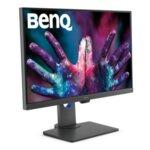 "BenQ PD2705Q, 27"" IPS LED, 5ms, 2560x1440 2K QHD, Designer Monitor, AQCOLOR, 100% sRGB, HDR10, B.I., LBL, KVM, ICCsync, CAD/CAM, DualView, Contrast 1000:1, 300 cd/m2, HDMI, DP, USB"
