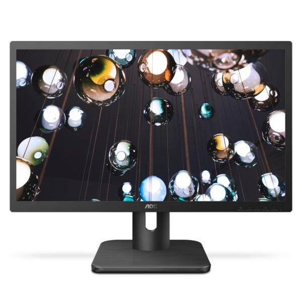 "AOC 22E1Q, 21.5"" Wide MVA LED, 5 ms, 3000:1, 20M:1 DCR, 250 cd/m2, FHD 1920x1080@60Hz, FlickerFree, Low Blue Light, D-Sub, HDMI, DP, Headphone Out, Speakers, Black"
