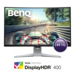 "BenQ EX3203R, 31,5"" VA, 144Hz, 4ms, QHD 2560x1440, Curved LED 1800R, FreeSync2, 90% DCI-P3, Display HDR 400, Eye-Care, Flicker-free, LBL, B.I.+, 3000:1, 20M:1 DCR, 400 cd/m2, 8bit, HDMI x2,"