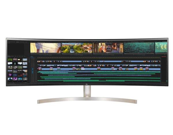 """LG 49WL95C-W, 49"""" 32:9 Curved UltraWide Dual QHD 5120x1440 IPS Panel, USB Type-C, 5ms, 350 cd/m2, 1000:1, HDR10, sRGB 99%, FreeSync, 3 PBP, HDMI, DisplayPort, Speaker 2x10W, Tilt, Height,"""
