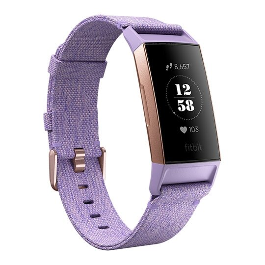 Fitbit Charge 3 Special Edition NFC, Lavender Woven