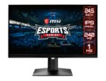 "MSI Optix MAG251RX, 24.5"", 1ms, 240Hz, IPS, FHD 1920x1080, AG, DisplayHDR 400, G-SYNC Compatible, FreeSync, Gaming OSD, 400 nits, Contrast 1000:1, DCR 100M:1, 2 x HDMI 2.0, DP 1.2a, 1x USB C"