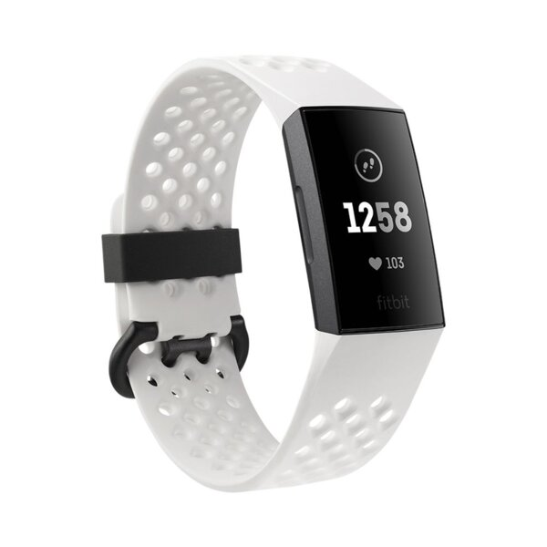 Fitbit Charge 3 Special Edition NFC, Graphite, White Silicone