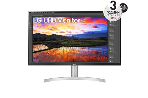 "LG 32UN650-W, 31.5"" UltraFine UHD LED AG, IPS, DCI-P3 95%, 5ms, 350 cd/m2, 1000:1, 3840x2160, HDR 10, HDMI, DisplayPort, Radeon FreeSync, Dynamic Action Sync, Headphone out, Height, Pivot,"