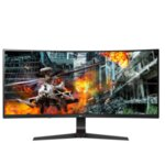 "LG 34GL750-B, 34"" Curved, 21:9 UltraWide Gaming Monitor, QHD (2560 x 1080) IPS Anti Glare, 5ms, (1ms MBR) 144Hz, 1000:1, 300cd/m2, sRGB 99%, NVIDIA G-SYN, HDR 10, USB 3.0, HDMI, DisplayPort,"