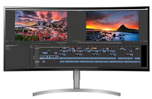"LG 38WK95C-W, 37.5"" 21:9 UltraWide, Curved WQHD  3840x1600 IPS Panel with USB Type-C , 1ms Motion Blur Reduction, 5ms, 300 cd/m2, Contrast ratio Mega(DFC)/1000:1, HDR10, sRGB 99%, FreeSync,"