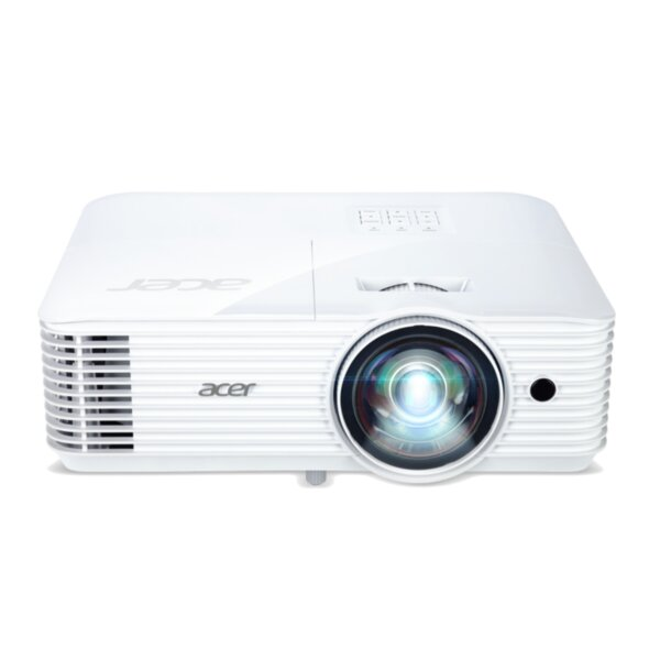 Acer Projector S1386WH, DLP, Short Throw, WXGA (1280x800), 3600 ANSI Lumens, 20000:1, 3D, HDMI, VGA, RCA, Audio in, Audio out, VGA out, DC Out (5V/1A, USB-A), Speaker 16W, Bluelight Shield,