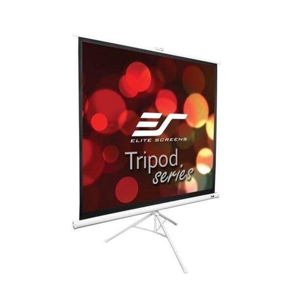 "Elite Screen T136NWS1 Tripod, 136"" (1:1), 243.8 x 243.8 cm, White"