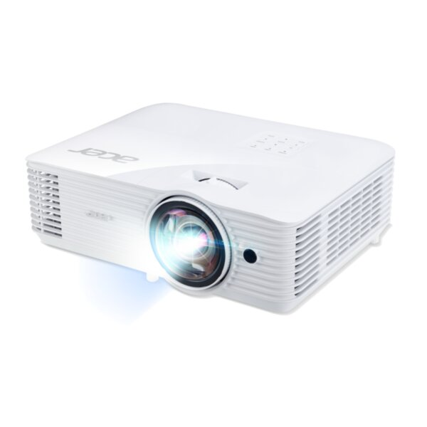 Acer Projector S1386WHn, DLP, Short Throw, WXGA (1280x800), 3600 ANSI Lumens, 20000:1, 3D, HDMI, VGA, LAN, RCA, Audio in, Audio out, VGA out, DC Out (5V/1A, USB-A), Speaker 16W, Bluelight