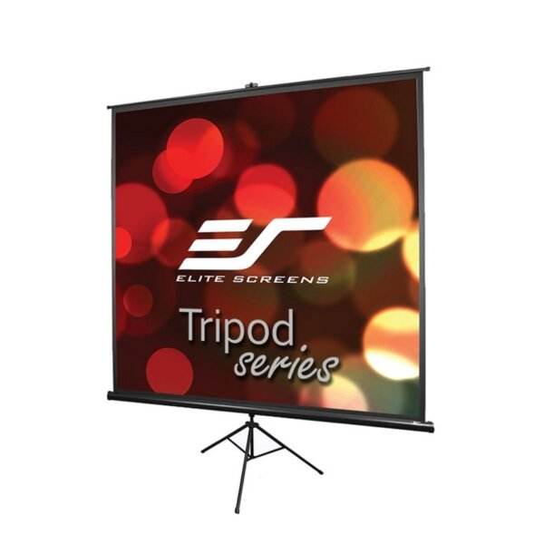"Elite Screen T100UWV1 Tripod, 100"" (4:3), 203.2 x 152.4 cm, Black"