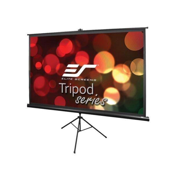 "Elite Screen T100UWH Tripod, 100"" (16:9), 221.0 x 124.5 cm, Black"