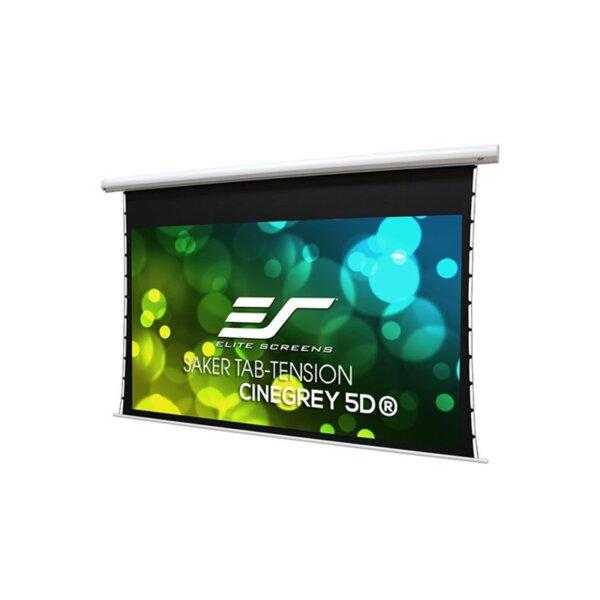 """Elite Screen SKT110XHD5-E12 Saker Tab-Tension, 110"""" (16:9), 243.5 x 137.0 cm, White"""