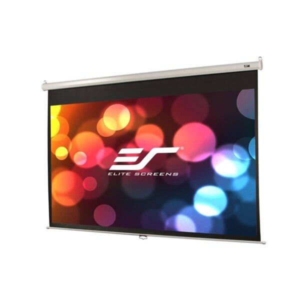 """Elite Screen M120XWV2 Manual, 120"""" (4:3), 243.8 x 182.9 cm, White"""