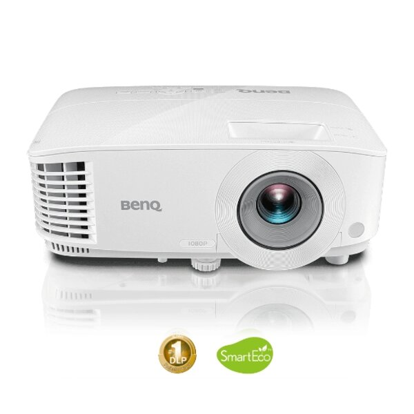 BenQ MH550, DLP, 1080p (1920x1080), 20 000:1, 3500 ANSI Lumens, VGA, 2xHDMI, S-Video, RCA, Speaker 2W, Audio In/Out, RS232, 3D Ready, 2.3kg, White