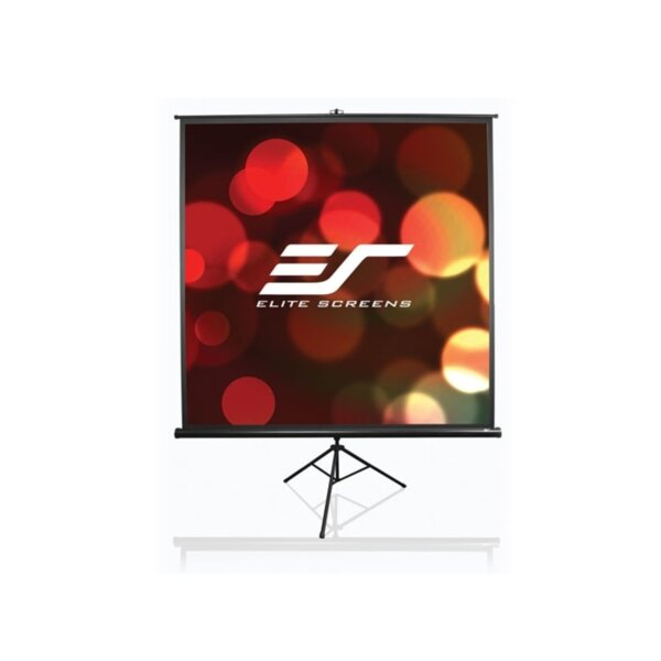 "Elite Screen T71UWS1 Tripod, 71"" (1:1), 127.0 x 127.0 cm, Black"