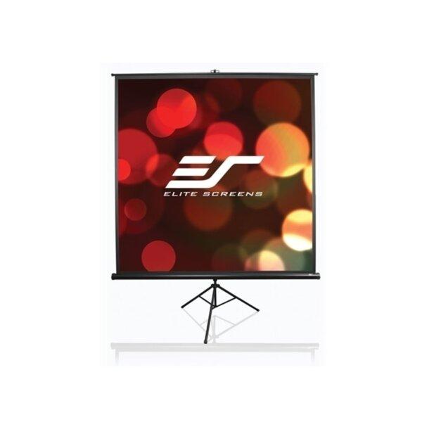 "Elite Screen T113UWS1 Tripod, 113"" (1:1), 203.2 x 203.2 cm, Black"