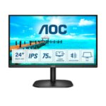 "AOC 24B2XDA, 23.8"" IPS WLED, 1920x1080@75Hz, 4ms GTG, 250cd/m2, 1000:1, DC20M:1, Adaptive Sync, FlickerFree, Low Blue Light, 2Wx2, Tilt, D-SUB, DVI, HDMI"