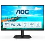 "AOC 27B2DA, 27"" IPS WLED, 1920x1080@75Hz, 4ms GtG, 250cd/m2, 1000:1. DC20M:1, Adaptive Sync, FlickerFree, Low Blue Light, 2Wx2, Tilt, D-SUB, DVI, HDMI"