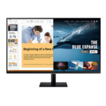 """Samsung 32AM700, 31.5"""" VA SMART Monitor, 60Hz, 8 ms GTG, 3840 x 2160, 250 cd/m2, 3000:1 Contrast, HDR10, DeX, Mirroring, AirPlay 2, Remote Access, Eye Saver Mode, Flicker Free, Game Mode,"""