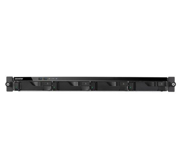 """Asustor AS6204RS, 4-bay NAS, Intel Celeron Quad-Core N3160 (up to 2.24 GHz, 2MB), 4 GB DDR3L SO-DIMM (max 8GB), 4 x 3.5"""" or SSD, GbE x 4, 4*USB 3.0, HDMI, lock tray, 1U Rack, Single Power &"""