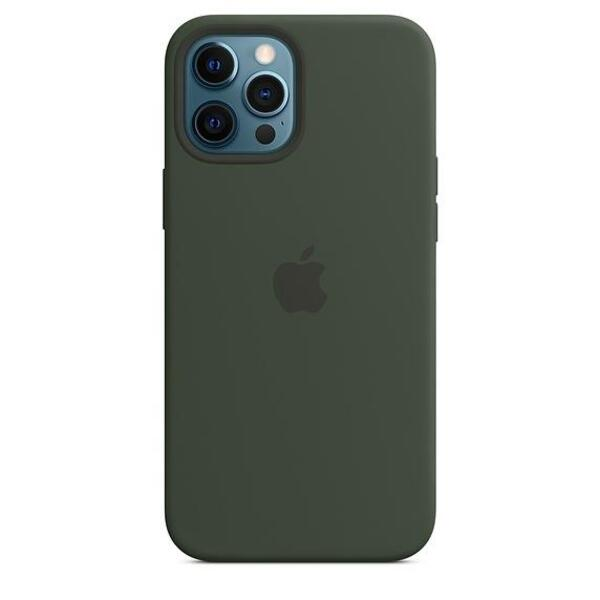 Apple iPhone 12 Pro Max Silicone Case with MagSafe - Cypress Green (Seasonal Fall 2020)