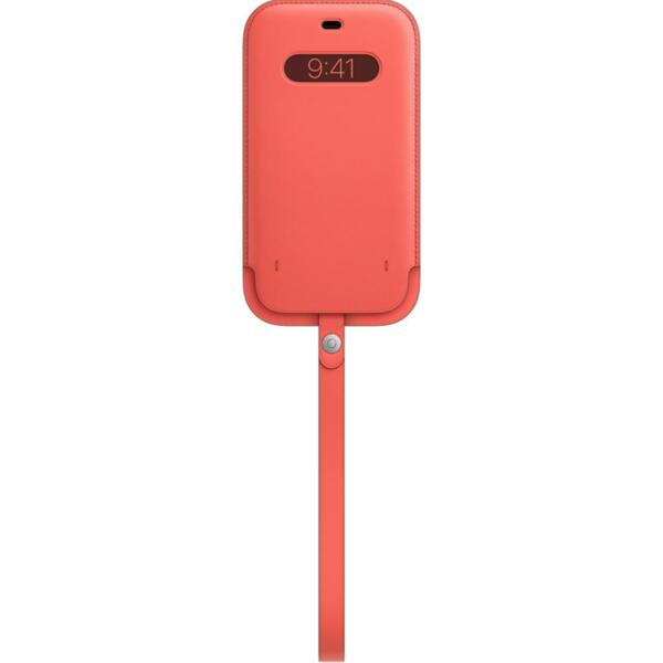 Apple iPhone 12 Pro Max Leather Sleeve with MagSafe - Pink Citrus (Seasonal Nov 2020)