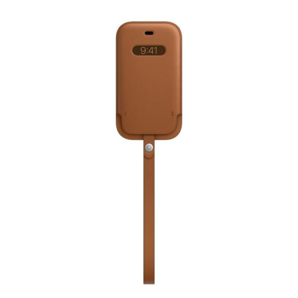 Apple iPhone 12 mini Leather Sleeve with MagSafe - Saddle Brown