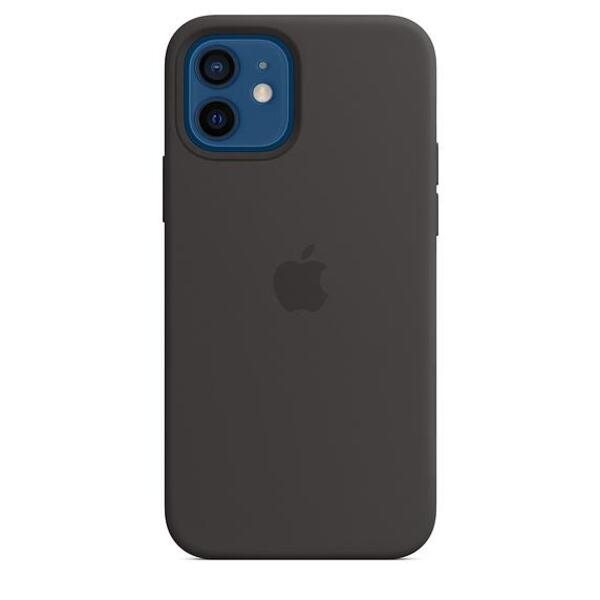 Apple iPhone 12/12 Pro Silicone Case with MagSafe - Black
