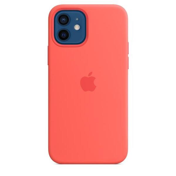 Apple iPhone 12/12 Pro Silicone Case with MagSafe - Pink Citrus (Seasonal Fall 2020)