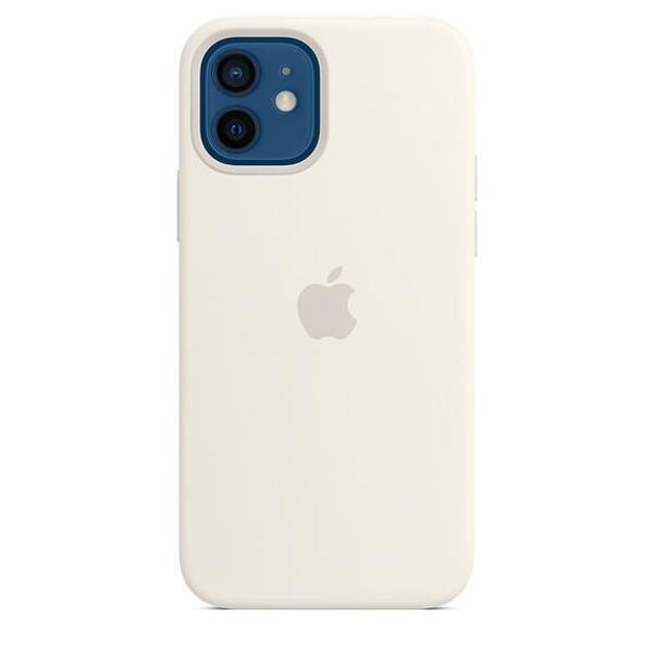 Apple iPhone 12/12 Pro Silicone Case with MagSafe - White