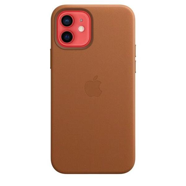 Apple iPhone 12/12 Pro Leather Case with MagSafe - Saddle Brown