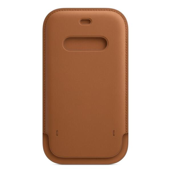 Apple iPhone 12 12 Pro Leather Sleeve with MagSafe - Saddle Brown