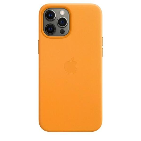 Apple iPhone 12 Pro Max Leather Case with MagSafe - California Poppy (Seasonal Fall 2020)