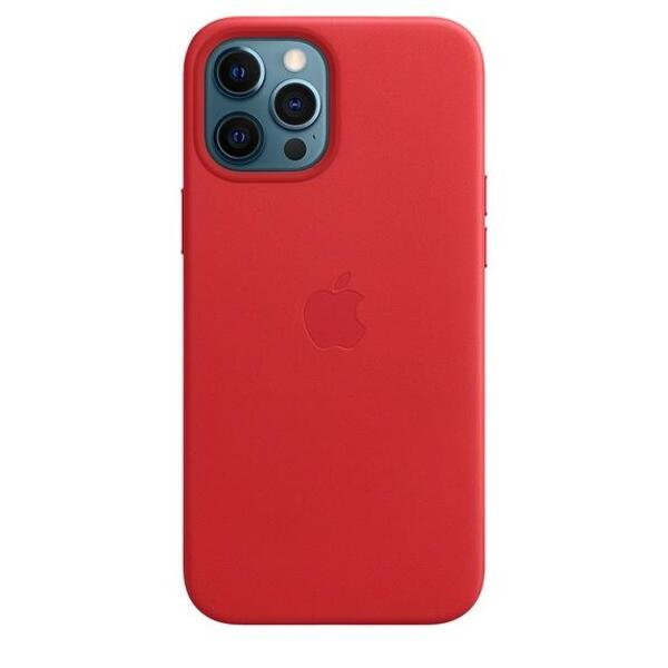 Apple iPhone 12 Pro Max Leather Case with MagSafe - (PRODUCT)RED