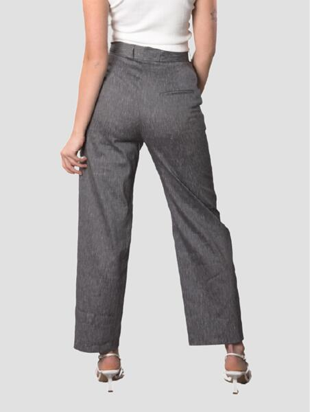 CROPPED PANTS IN CHARCOAL GREY