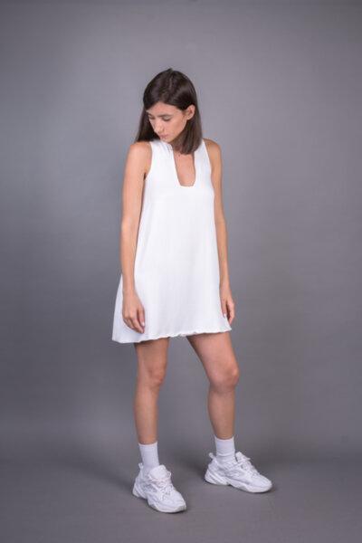 GEOMETRIC NECKLINE DRESS