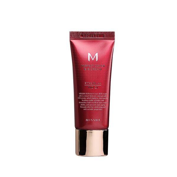 Missha - M Perfect Cover BB Cream SPF42/PA+++ #21 Light Beige, BB крем за лице (20ml)