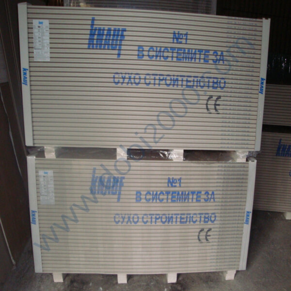 KNAUF Стандартна гипсова плоскост A13 (GKB 12,5 мм)