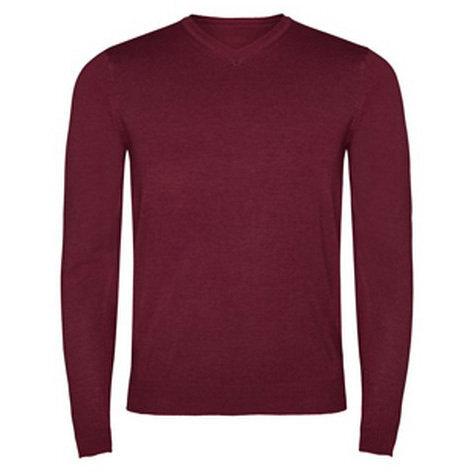 Мъжки пуловер в цвят керемида