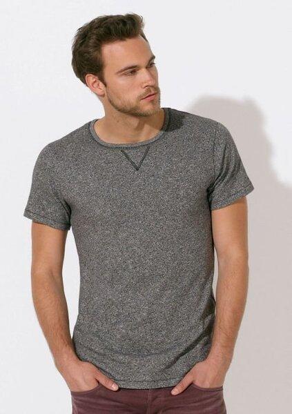 Мъжка меланжирана тениска