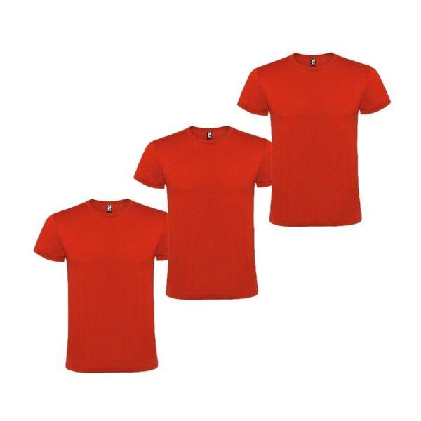Мъжка червена тениска - 3 броя